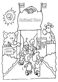 Zoo Animal Coloring Page Free Zoo Animal Coloring Pages Zoo Animals