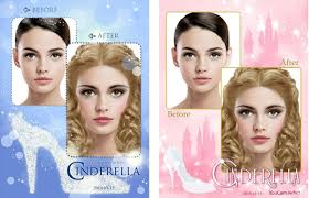 that its por youcam makeup app has released cinderella themed makeup looks users everywhere can transform into a virtual princess by applying the