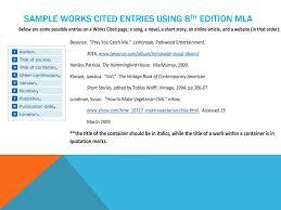 Mla Citation Formatting Ppt Download