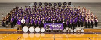 the winter springs band of gold looks forward to their showcase performances on december 7th and