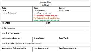 Lesson Plan Sheets Editable Lesson Plan Template Teachwire Teaching Resource