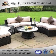 top glass round table garden furniture brown half moon rattan sofa set supplieranufacturers china factory wellfurnir