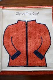 zipping up the coat quiet book page