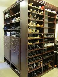 shoe shelves with bins dream closet outside corner
