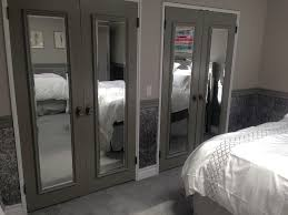 custom closet door mirror installation