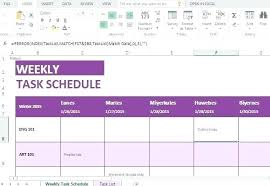 Weekly Task List Template Excel – Custosathletics.co