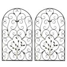 Lighter metals enhance these decorative choices. 17 Wrought Iron Metal Scroll Picture Topper Wall Decor Grill For Sale Online Ebay