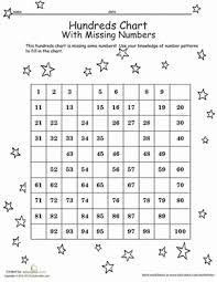 Hundred Chart Worksheet Hundreds Chart With Missing Numbers Worksheet Education Com