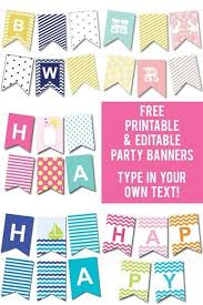 Baby Banners Template Free Printable Editable Party Banners Organizational Printables