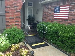 wheelchair ramp and turned to tony tony rainwater and the amramp oklahoma team made the front entrance of this broken arrow