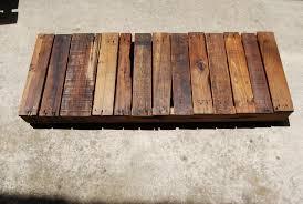 Wood Pallet Table Top Update Reclaimed Wood Pallet Coffee Table W Kopeikin