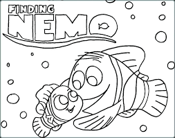 Finding Nemo Coloring Sheets Free Finding Color Pages Finding