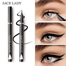 sace lady liquid eyeliner waterproof makeup black eye liner pencil long lasting make up smudge