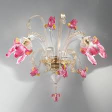 sconces murano glass sconces wall for flowers designs pink sconce