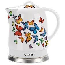 <b>Чайник DELTA DL-1233A</b> Бабочки купить недорого в ...