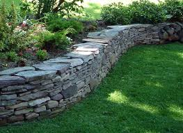 garden stone wall design ideas pennsylvania bluestone drystack wall this would be nice for your
