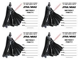 Awesome Star Wars Birthday Invitation Templates Free