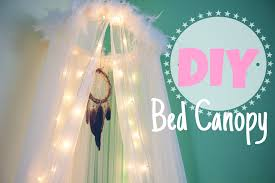 Diy Bed Canopy Diy Bed Canopy Room Decor Youtube