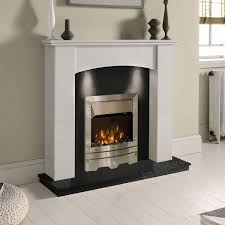 the gallery white marble black granite electric fireplace suite eko fire