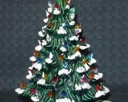Ceramic Christmas Tree Lights Image Is Loading With Ceramic Ceramic Tabletop Christmas Tree With Lights