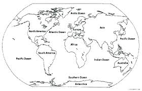 World Map Coloring Pages Printable Free Printable World Map Coloring