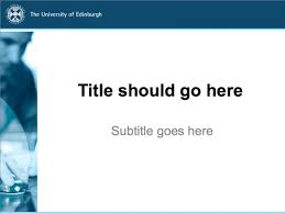 College Ppt Templates Powerpoint Templates The University Of Edinburgh