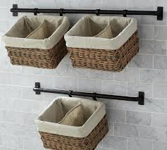 bathroom cabinets with baskets hanging wicker white wall cabinet pot