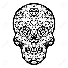 Day Of The Dead Skull Designs Sugar Skull Isolated On White Background Day Of The Dead Dia