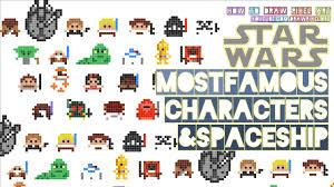 24 Drawn Star Wars Graph Paper Free Clip Art Stock