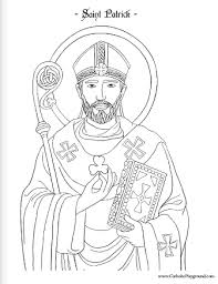 Small Picture Saint Patrick coloring page March 17th Catholic Playground