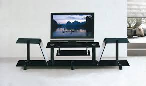 Living Room  Modern Contemporary Floating Storage Flat Tv Stand - Living room tv furniture
