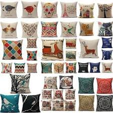 Small Picture Vintage Home Decor Cotton Linen Pillow Case Sofa Waist Throw