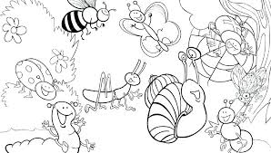 bug coloring pages for toddlers insects coloring page beautiful insects and spiders to print out free