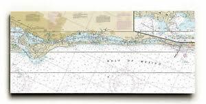 Details About Fl Siesta Key Casey Key Fl Nautical Chart Sign Graphic Art Print On Wood
