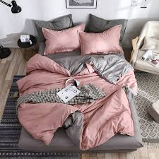 hot decbest 4pcs simple bedding sets queen king size duvet quilt cover flat sheet pillowcases newchic