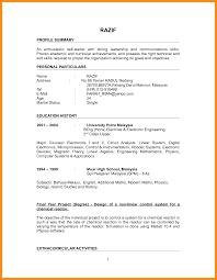 9 Sample Of Simple Resume For Fresh Graduate Azzurra Castle Grenada