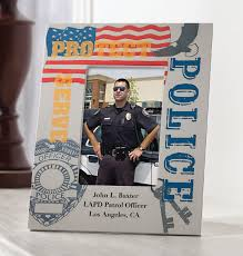personalized police frame