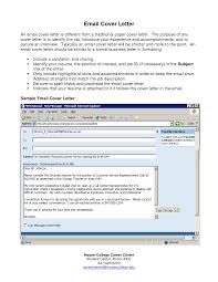 Email Cover Letter Sample For Resume Cover Letter Database