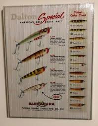 Dalton Fishing Lure Color Chart On Wood Florida Fishing