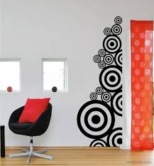 ... Creative Beautiful Wall Art Decorations Black Round Circle Chair Fabric  Red Stainless Steel Window Best Beautiful Wall Art For Living Room  Beautiful ...