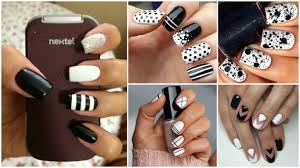 Pictures Of Black And White Nail Designs 60 Amazing Black And White Nail Designs Yve Style Com