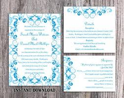 Invitation Downloads Cool DIY Wedding Invitation Template Set Editable Word File Instant