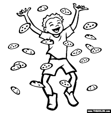 Small Picture The Chocolate Chip Cookie Coloring Page Free The Chocolate Chip
