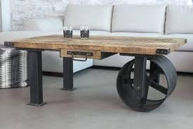 industrial look furniture. Industrial Coffee Table With Wheels Photo 5 Of 8 View In Gallery  Wheel From 7 Good Look Furniture Industrial Look Furniture R