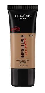 l oreal paris infallible pro matte foundation 108 caramel beige