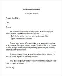 Employee Lay Off Letter 7 Layoff Notice Templates Free Word Pdf Format Download
