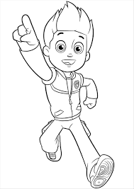Aw How To Draw Rider Face From Paw Patrol Kleurplaat Ryder Noah