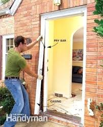 install a new front door how to replace an exterior door replacing front door cost uk
