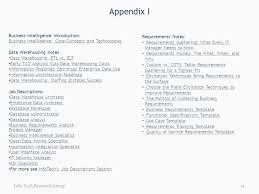 appendix i business intelligence introduction business intelligence core concepts and technologies data warehousing notes data warehouse analyst job description