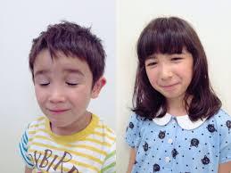 可愛い女の子と男の子のヘアスタイル子どももしっかり切ります